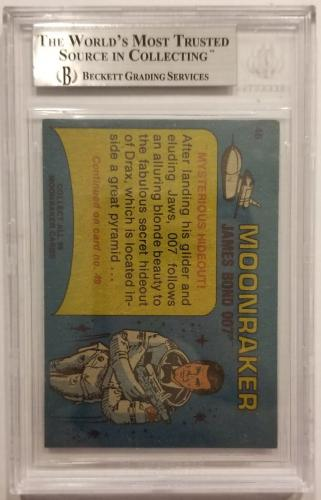 ROGER MOORE Signed 1979 Topps James Bond trading card #48 Moonraker BAS Auth.