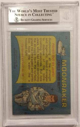 ROGER MOORE Signed 1979 Topps James Bond trading card #54 Moonraker BAS Auth.