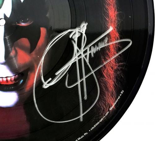 """GENE SIMMONS Signed Autographed """"KISS"""" Solo Album Picture Disc Vinyl JSA #Y84971"""