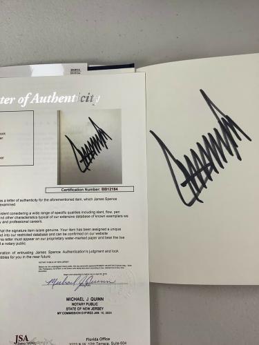Donald Trump Signed Book Crippled America President Autograph JSA LOA Huge Sig