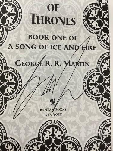 George RR Martin Signed Book Game Of Thrones JSA GOT Autograph Song Of Ice Fire