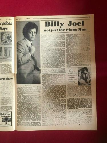 "1977, Billy Joel, ""SCENE"" Newspaper Magazine (Scarce / Vintage)"