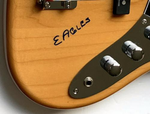 Randy Meisner Eagles signed guitar fender bass hotel california lyric psa dna