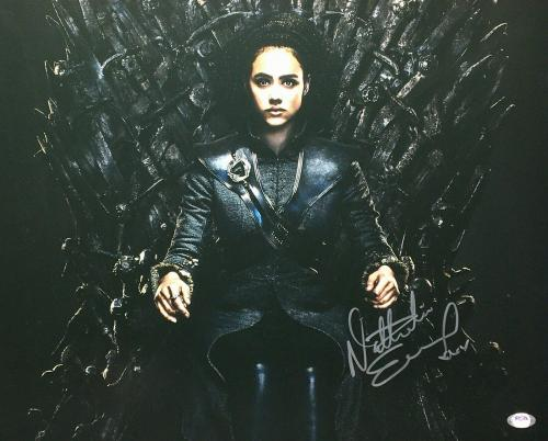 Nathalie Emmanuel Signed 'Game of Thrones' 16x20 Photo *Missandei PSA AH58921