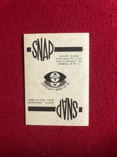 "1959, Lucille Ball, ""SNAP"" Stars Collector's Card (Scarce / Vintage)"
