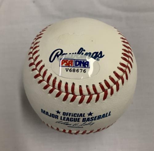 ROGER MOORE Signed MLB Baseball JAMES BOND 007 PSA/DNA COA AUTOGRAPHED A
