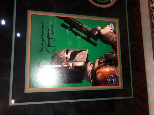 Star Wars Boba Fett Jeremy Bulloch signed autographed framed display BAS COA