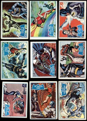 1966 Topps Batman Blue Bat Puzzle Back Complete Set 2.5 - GD+