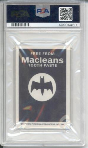 1966 MacLeans Tooth Paste CRIME CARD THE RIDDLER 1 - BATMAN PSA 8 NM-MT