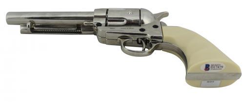 """Val Kilmer Tombstone """"Doc"""" Signed Denix Replica Revolver Prop BAS #D17479"""