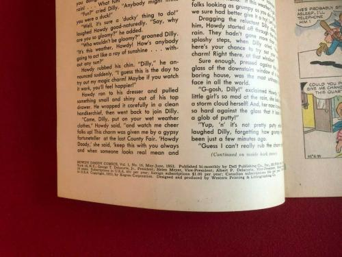 "1952, Howdy Doody, ""DELL"" Comic Book  No. 16  (Scarce / Vintage)"