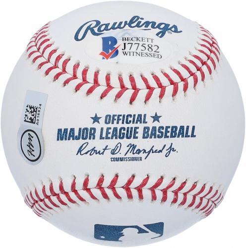 "Dennis Haysbert Major League Autographed Baseball with ""Cerrano"" Inscription - BAS"