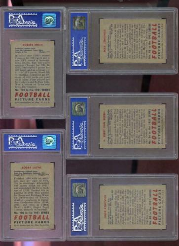 1951 Bowman #101 J. Robert Smith Detroit Lions NM PSA 7 Graded Football Card NFL