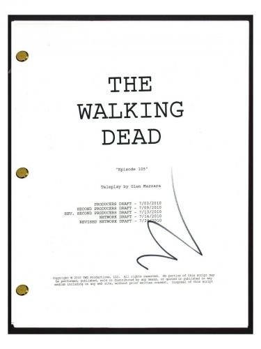 Norman Reedus Signed Autographed The Walking Dead Episode 105 Script COA