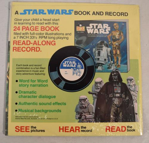Star Wars Book Record 24 Page Read Along Black Falcon 1979 New Sealed