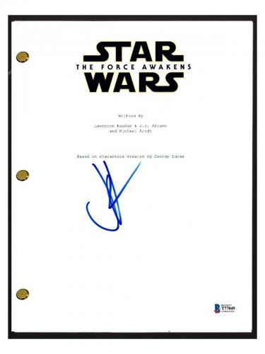 JJ Abrams Signed Autographed STAR WARS THE FORCE AWAKENS Script Beckett BAS COA