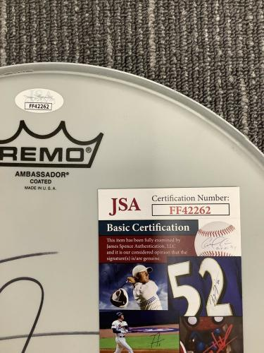 "Matt Sorum Signed Drumhead Music Autograph Remo 12"" Guns N Roses HOF Drums JSA 2"