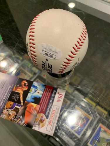 1997 Francis Ford Coppola Godfather Single Signed Baseball Jsa Pb Very Rare