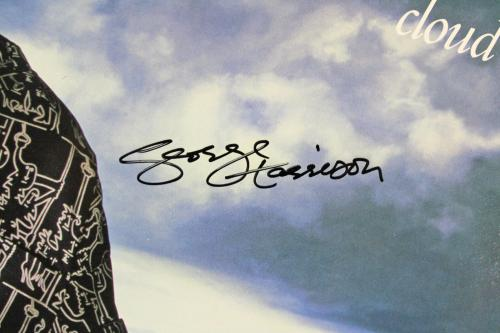 George Harrison Signed Cloud Nine Album Cover W/ Vinyl JSA #X10361