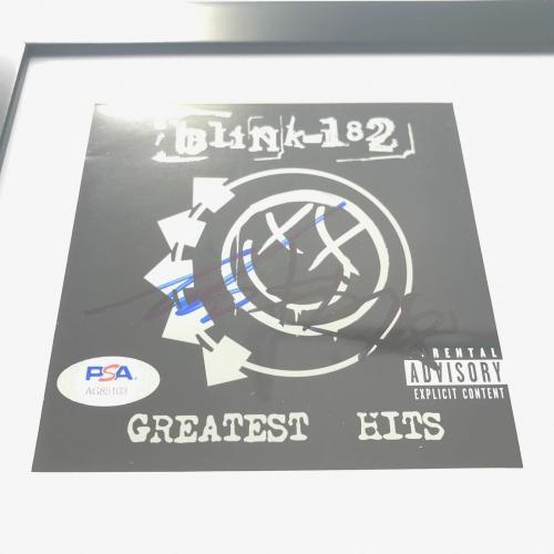 Travis Barker Mark Hoppus signed CD Framed PSA/DNA Blink 182