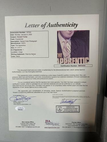 Donald Trump Autograph Signed USA President 8x10 Photo Collage Framed JSA Letter