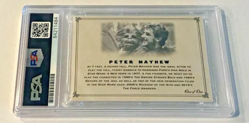 Peter Mayhew Star Wars Chewbacca Signed Custom Auto CARD 1/1 PSA/DNA Slabbed