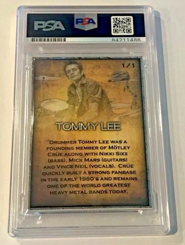 Tommy Lee Drummer Motley Crue Signed Custom Auto CARD 1/1 PSA/DNA Slabbed