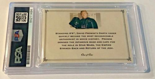 Dave David Prowse Star Wars Darth Vader Signed Custom Auto CARD 1/1 PSA/DNA Slab