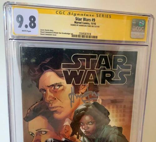 Han Solo Star Wars  #9 CGC 9.8 Signed Harrison Ford Signature Series Comic