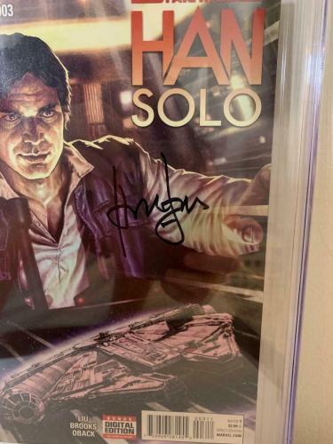Han Solo Marvel Comics  #3  CGC 9.8 Signed Harrison Ford Signature Series Comic