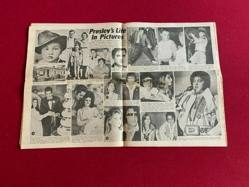 """1977, Elvis Presley, """"National Enquirer"""" (Death Photo) Scarce / Vintage"""
