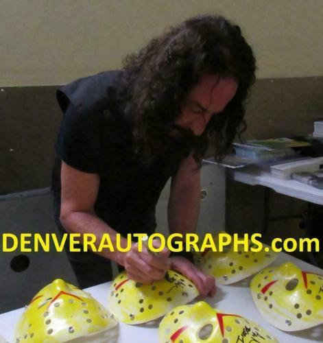 Ari Lehman Autographed Friday The 13th Replica Yellow Mask Jason BAS 23758