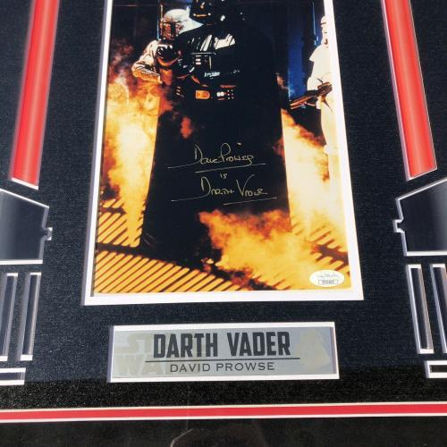 David Prowse Signed Star Wars Darth Vader Framed & Matted 8x12 Photo JSA COA