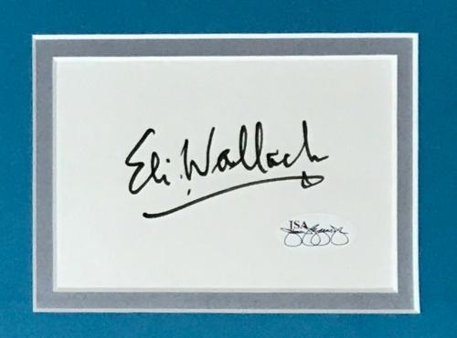 ELI WALLACH (Mr Freeze-Batman) signed custom framed display-JSA SOA
