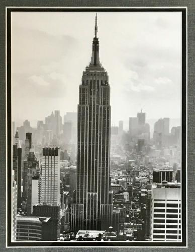 VINTAGE New York City - EMPIRE STATE BUILDING custom framed photo