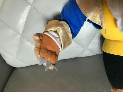 Vintage Disney Store Beauty And The Beast Plush Toy Very Collectible