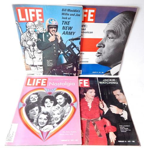 Vintage 1970-1972 LIFE Magazine Lot 22 Issues Jabbar Super Bowl Paul McCartney