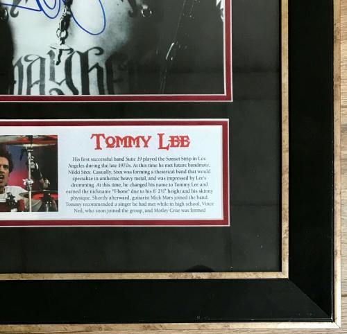 TOMMY LEE (MOTLEY CRUE) custom framed signed 11x14 photo display-JSA