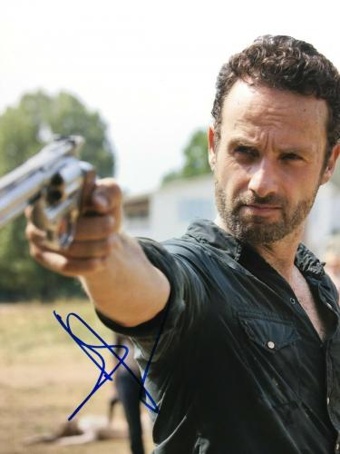 Andrew Lincoln Signed 'The Walking Dead' 11x14 Photo BAS E07852