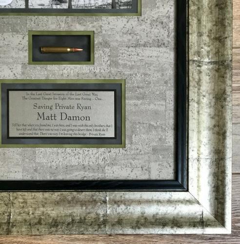 MATT DAMON (Saving Private Ryan) signed 8x10 deluxe custom framed display-JSA