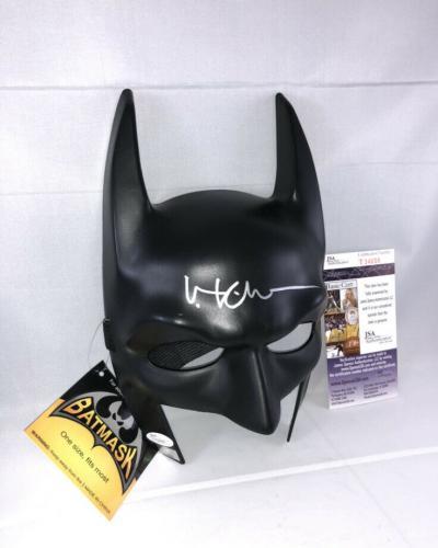 Val Kilmer Signed Batman Mask Jsa Batman Forever Bruce Wayne 3