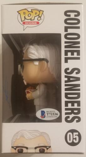 JASON ALEXANDER Signed COLONEL SANDERS KFC FUNKO POP! Icons BAS COA AUTOGRAPHED