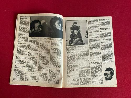 "1970, John Lennon, ""HIT PARADER"" Magazine (No Label) Beatles (Scarce / Vintage)"