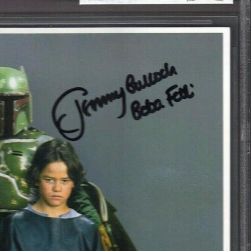 "JEREMY BULLOCH & DANIEL LOGAN Signed ""Boba Fett"" OPX STAR WARS 8x10 Photo BAS"