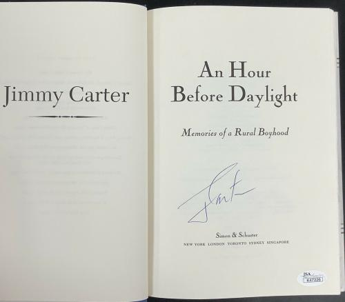 Jimmy Carter Signed Book Hour Before Daylight Hardcover President Autograph JSA