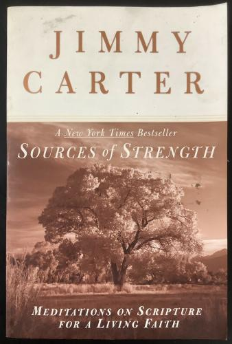 Jimmy Carter Signed Book Sources of Strength Softcover President Autograph JSA