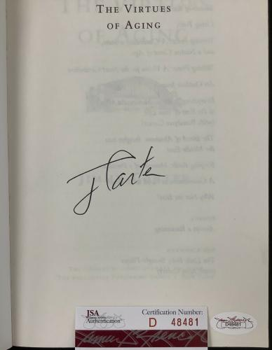 Jimmy Carter Signed Book The Virtues of Aging Softcover President Autograph JSA