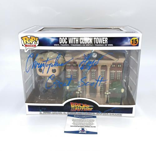 Christopher Lloyd Back To The Future Signed Clock Tower  Funko Pop Auto Bas 4