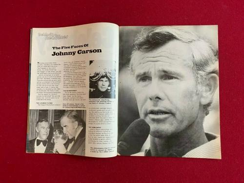"1976, Johnny Carson, ""Celebrity"" Magazine (No Label) Scarce / Vintage"