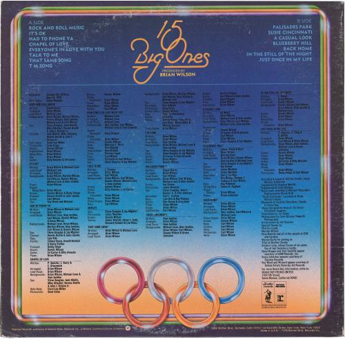 Mike Love & Al Jardine Autographed The Beach Boys 15 Big Ones Album Cover - PSA/DNA COA